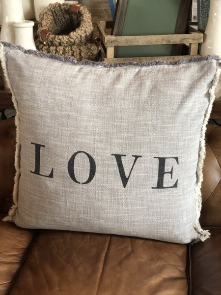 """LOVE"" Pillow"
