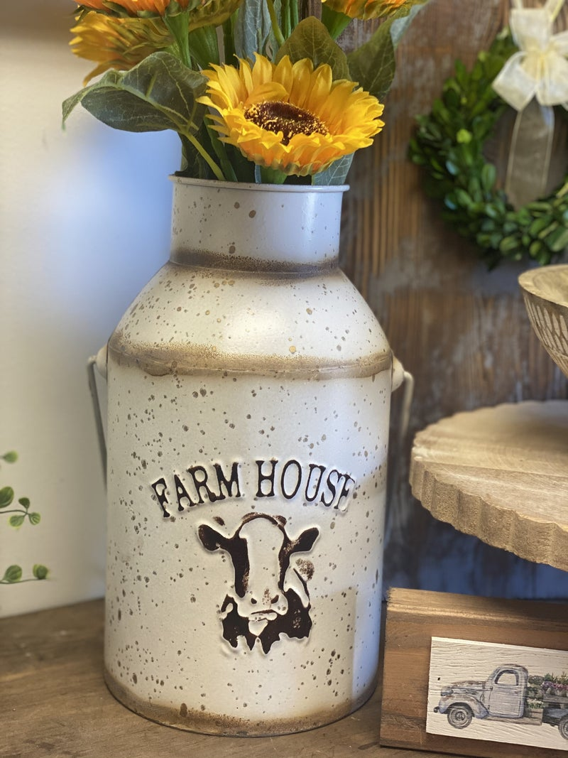Cream Farmhouse Milk Can
