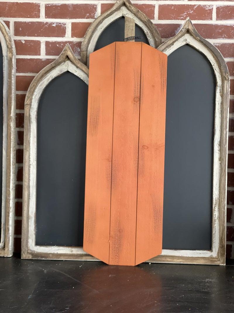 Tall Wood Pumpkin