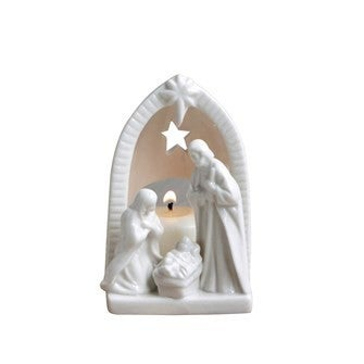 Ceramic Nativity Tealight Holder