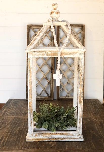 White XL Farmhouse Lantern