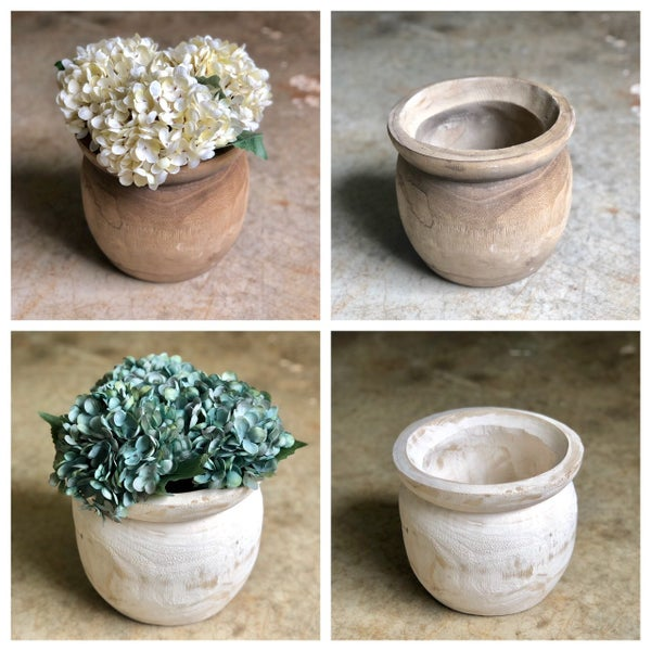 Wood Planter Pot