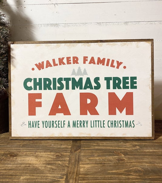 Custom Christmas Tree Farm Sign