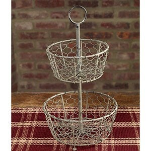 2 Tier Farmhouse Basket