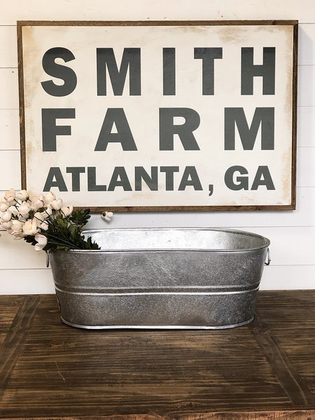Custom Name Farm Sign