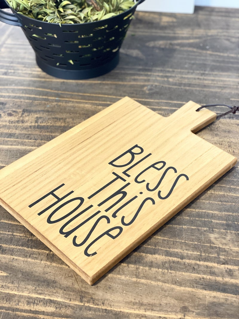 Bless This House Cutting Board