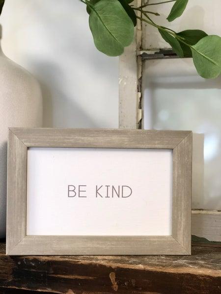 Be Kind Wood Frame