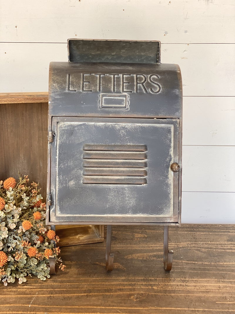 Wall Letter Box with Door and Three Hooks