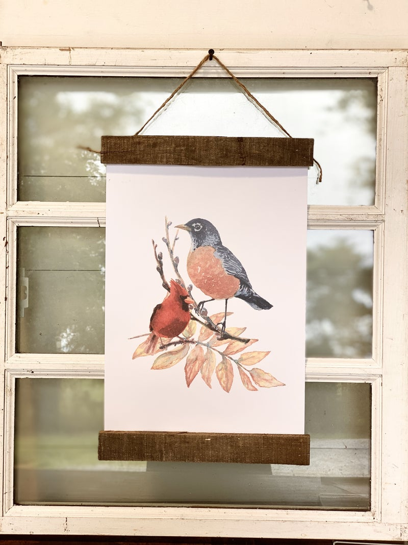 Birds Sitting on a Branch Wall Hanging