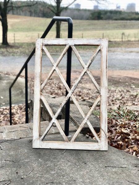 Beautiful Criss Cross Wood Window