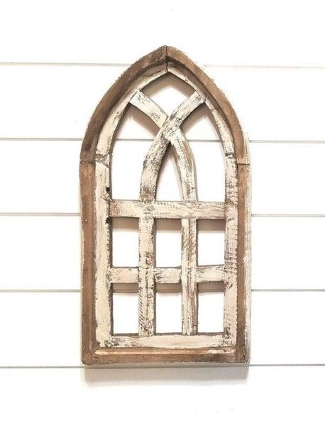 Mini White Wash Cathedral Windows