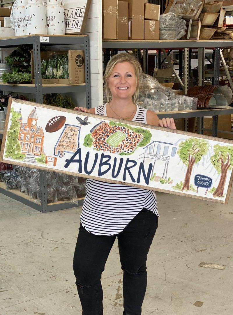 Auburn, AL College Town Sign