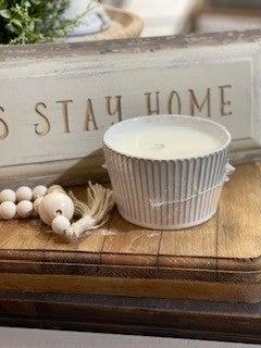 SWG Exclusive Ceramic Cupcake Bowl Candle