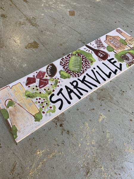 Small Starkville College Sign