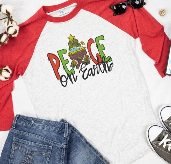 Peace On Earth Raglan Shirt