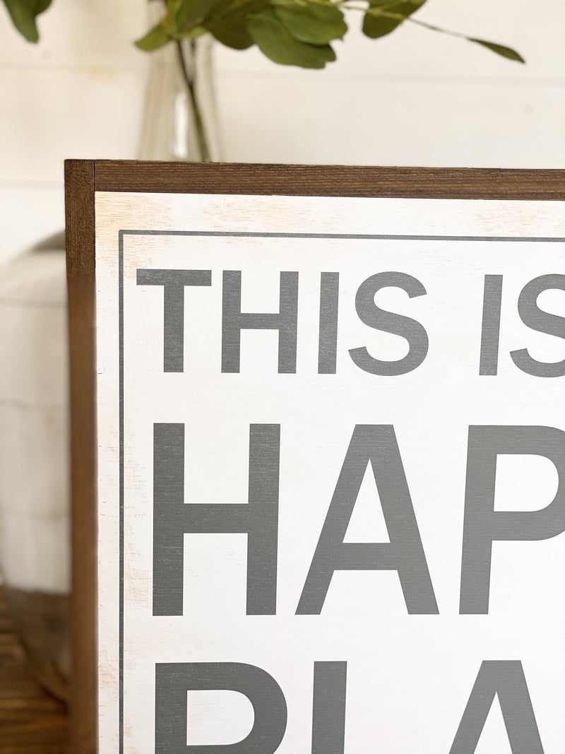 This Is My Happy Place Customizable Sign-traditional style