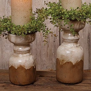 Ceramic Aged Candle Pillars