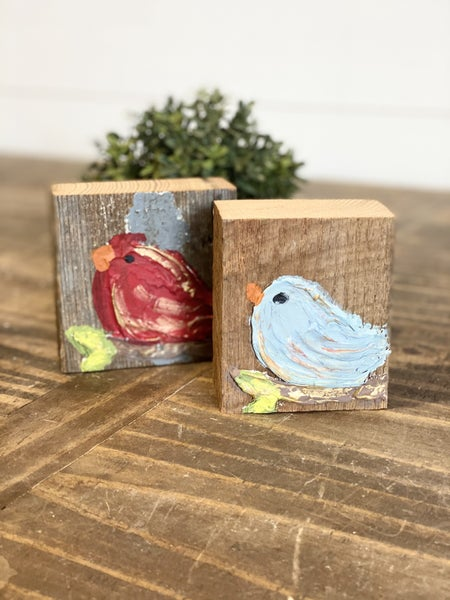 Chunky Wood Block-Bird