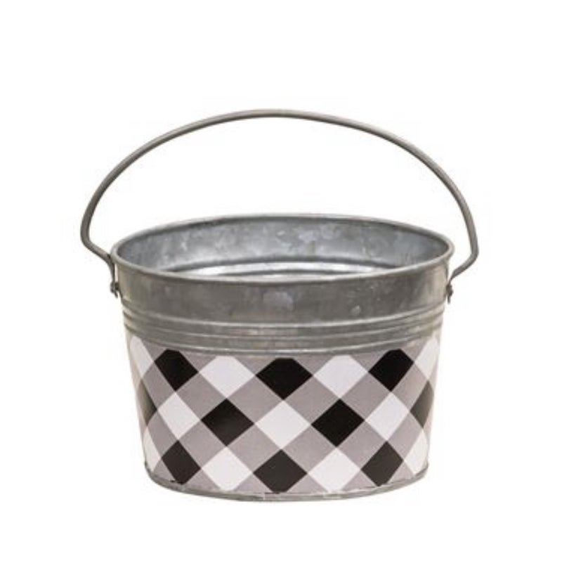 Buffalo Check Oval Pale with Handle