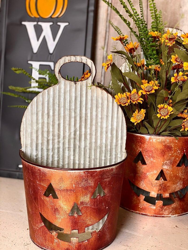 Pumpkin Wall Buckets