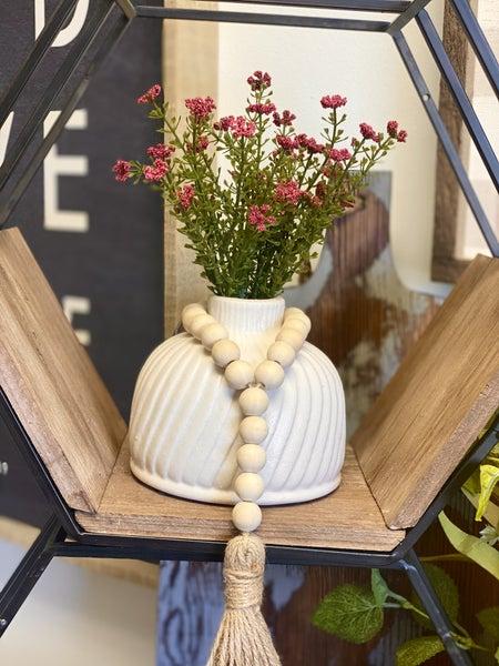 """5"""" White Texture Vase"""