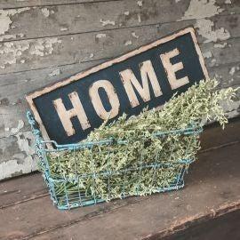 """""""HOME"""" FRAMED METAL SIGN"""