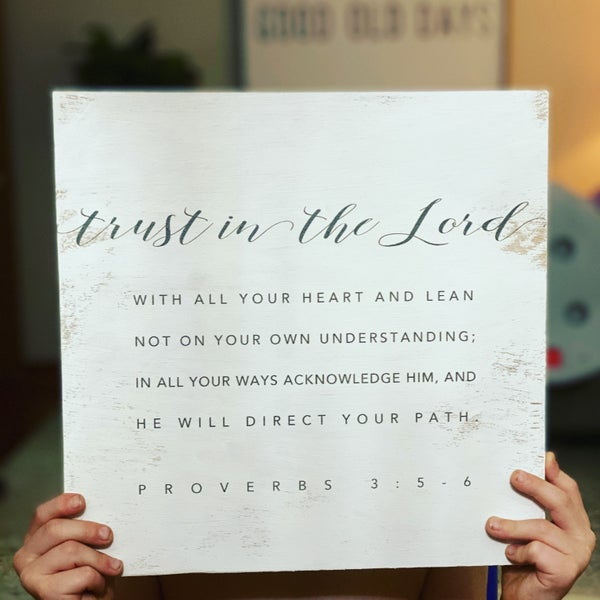 """""""Trust In The Lord"""" Wood Sign"""