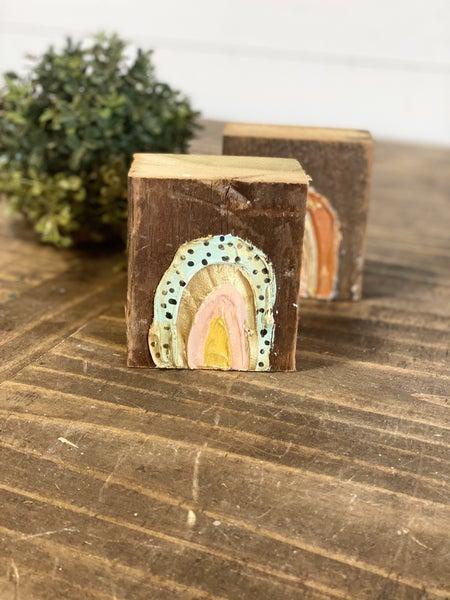 Chunky Wood Block-Rainbow