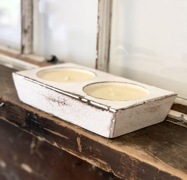 White 2 Hole Cheese Mold Signature Candle