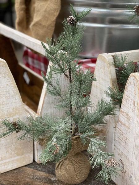 Christmas Tree w/Burlap
