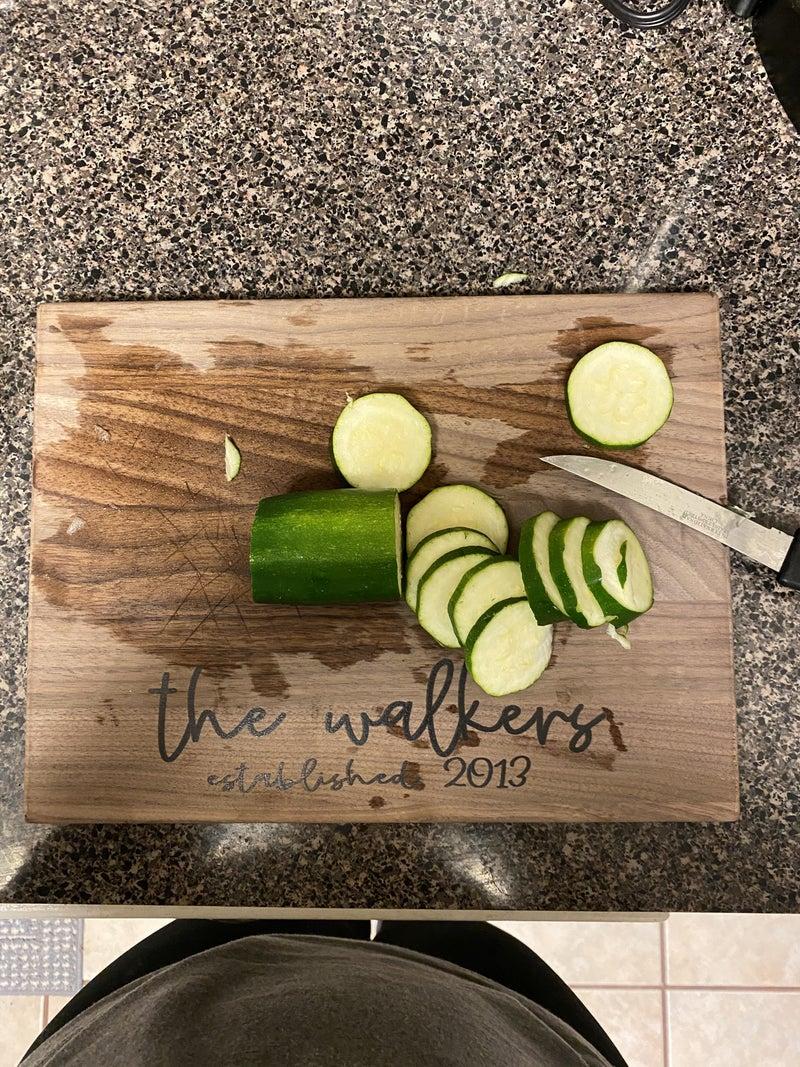9x12 Walnut Food Safe Cutting Board