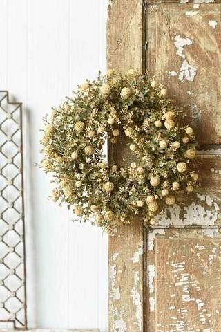 Fall Garden Wreath - Cream