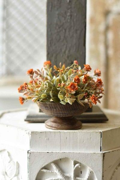 Autumn Rosette Half Sphere - Pumpkin