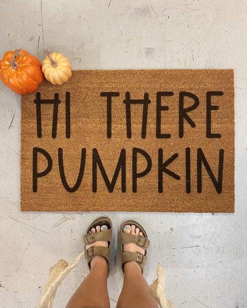 Hi There Pumpkin - Double Door Mat