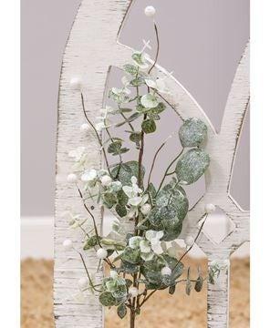 Glitter Frosted Eucalyptus Stem