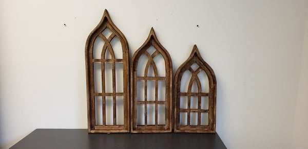 Mini Brown Wooden Pointy Arches