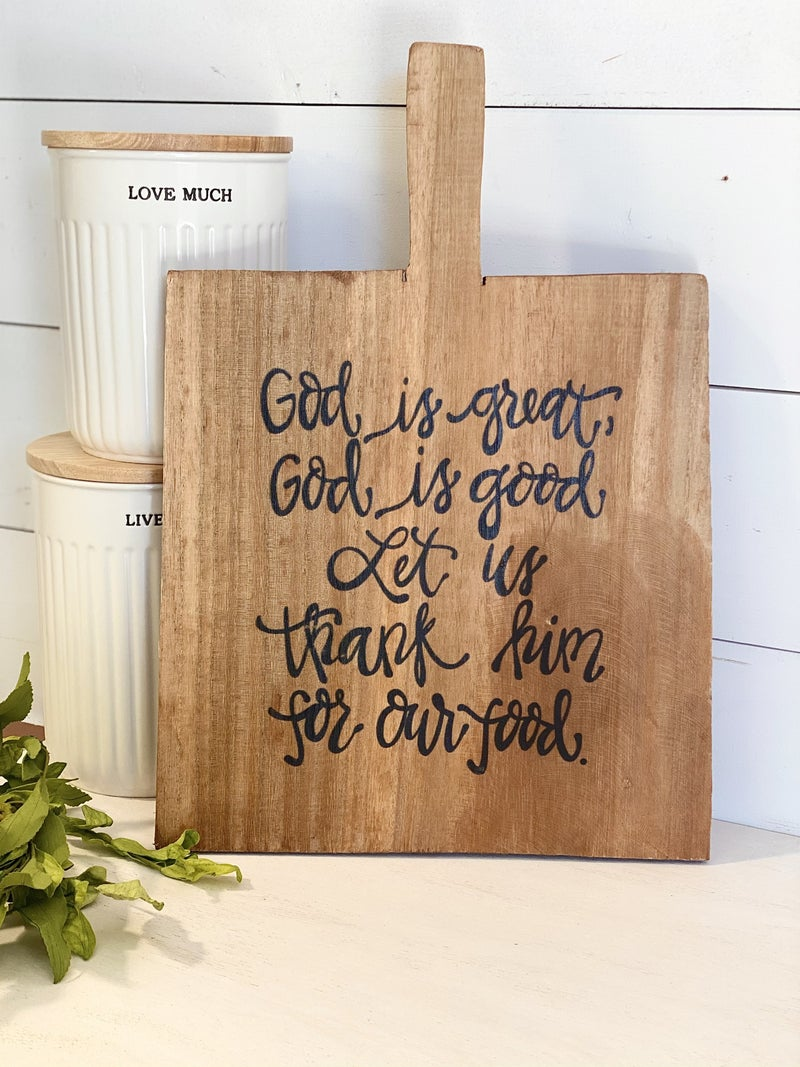 God Is Great Cutting Board