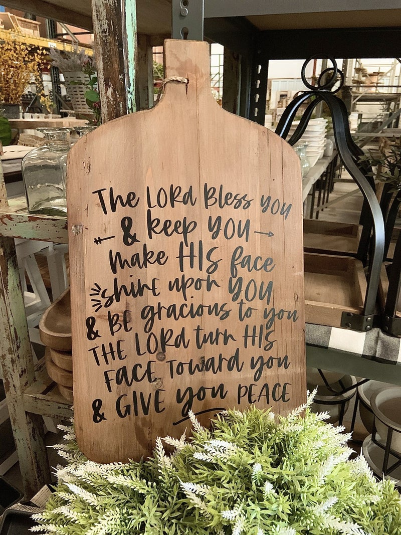 The Lord Bless You Cutting Board