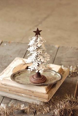 """Snowy Metal Tree 10"""""""