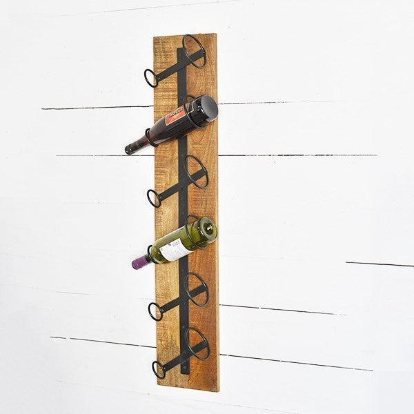 WOOD/IRON TALL WINE RACK