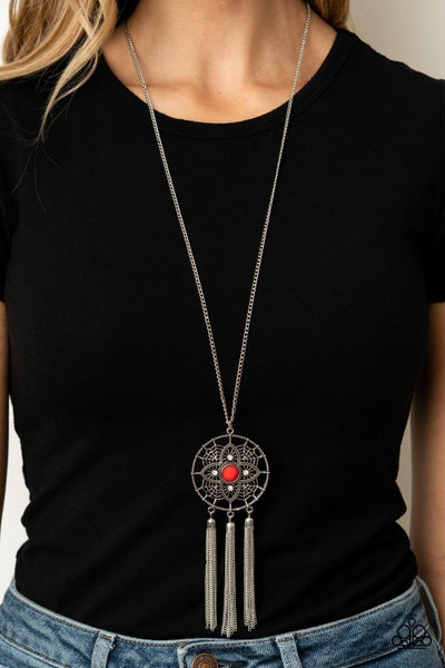 Chasing Dreams Red Necklace