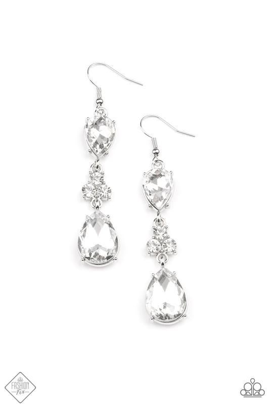 Once Upon A Twinkle White Earrings