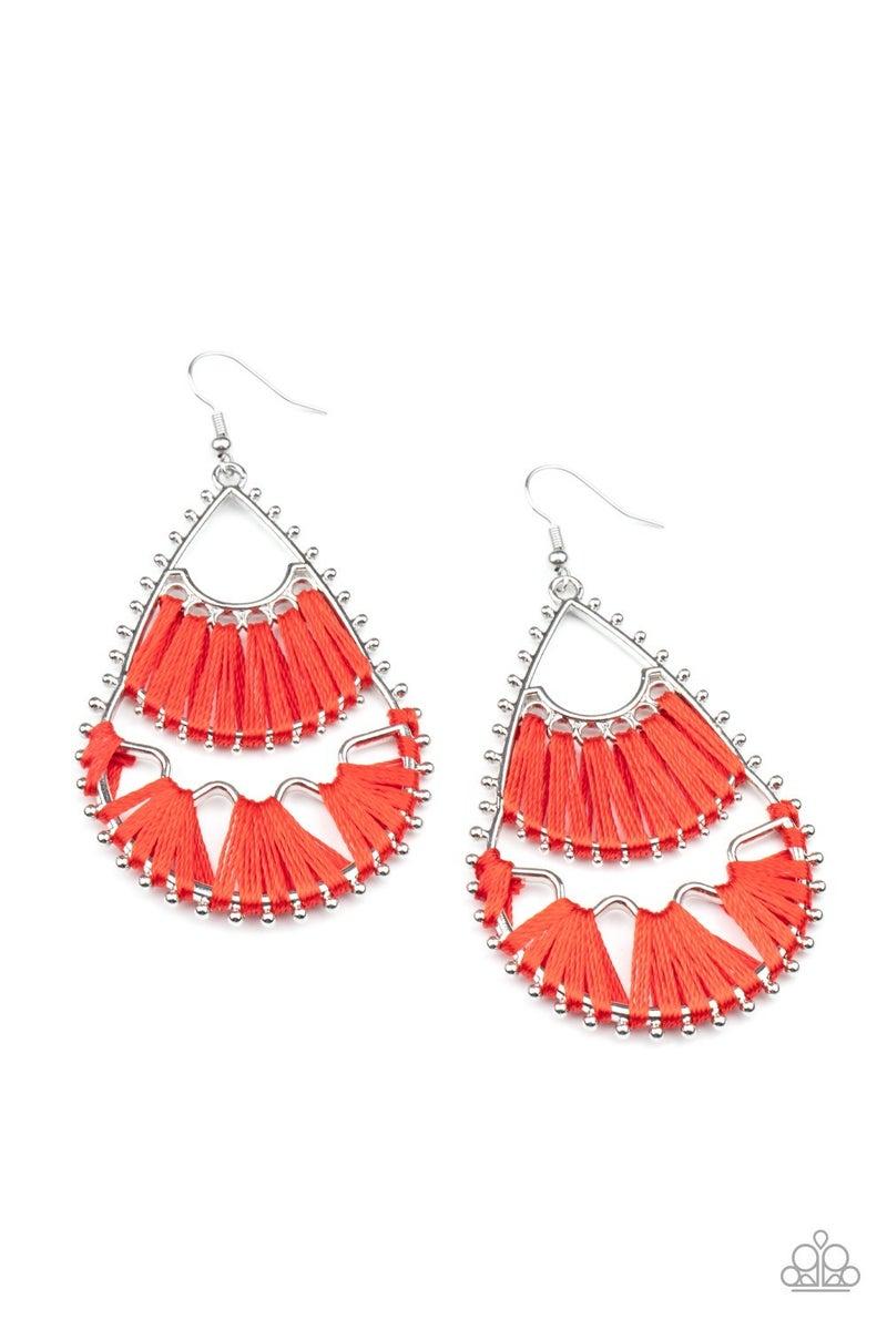 Samba Scene Red Earring