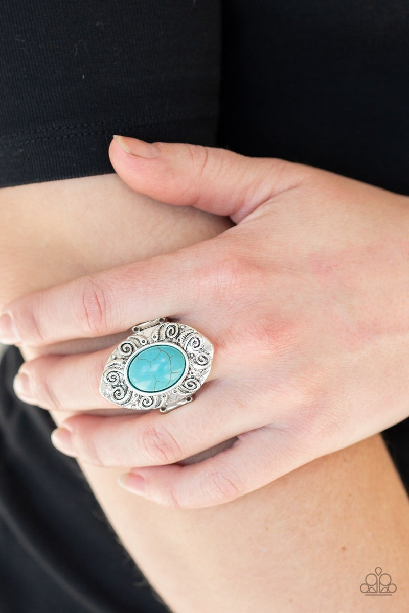 Mega Mother Nature Blue Ring - Sparkle with Suzanna