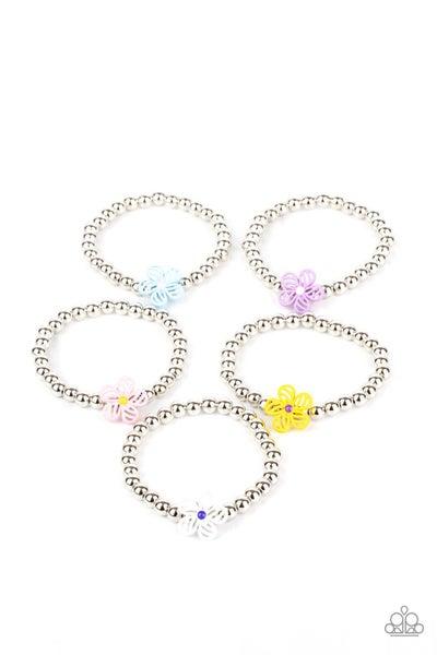 Starlet Shimmer Floral Bracelets (5 Pack)