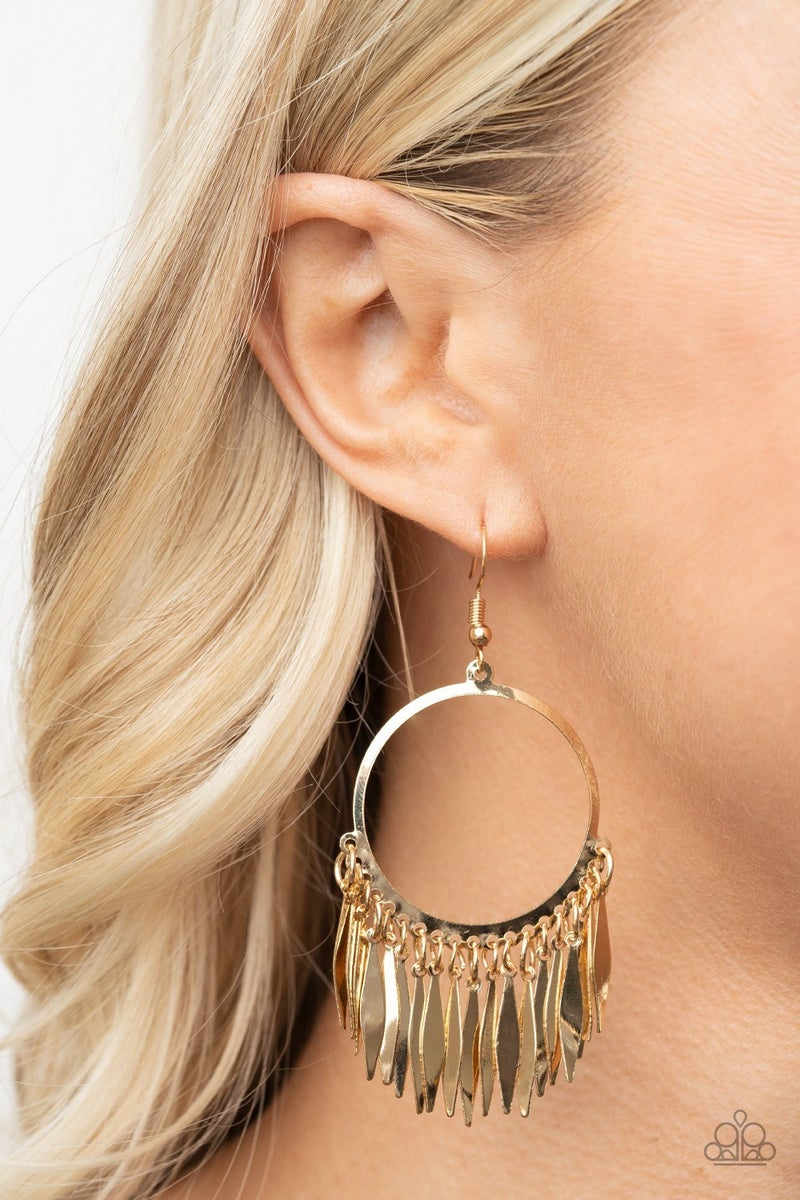 Radiant Chimes Gold Earring - PREORDER
