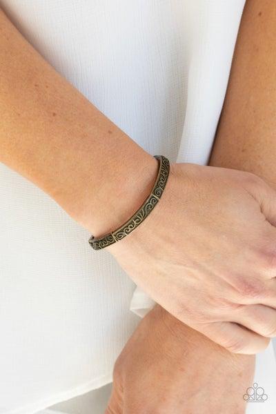 Precisely Petite Brass Bracelet