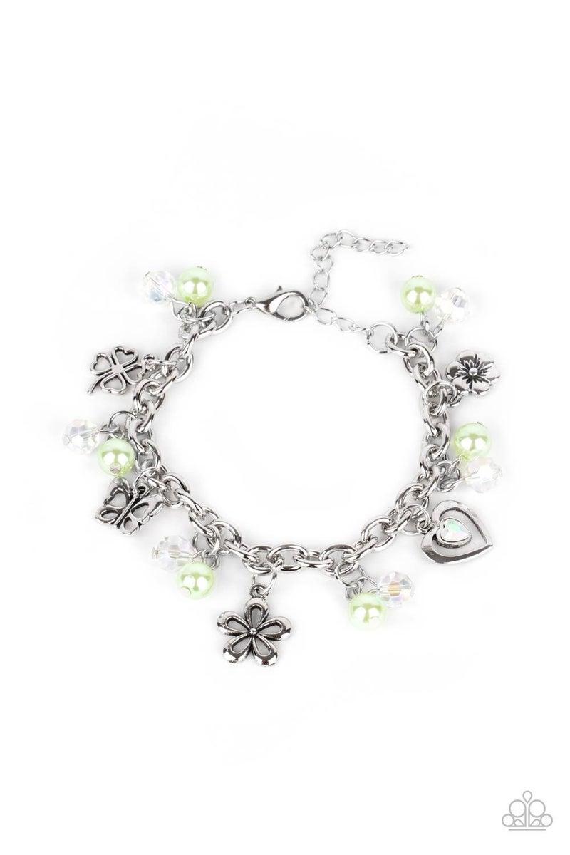 Retreat Into Romance Green Bracelet