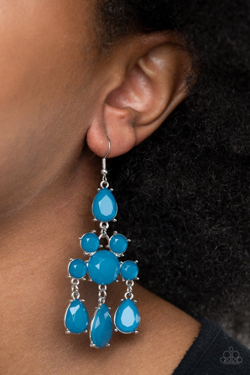 Afterglow Glamour Blue Earring - Sparkle with Suzanna