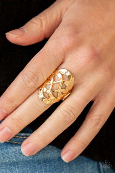 Open Fire Gold Ring